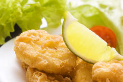 Chicken nuggets close up Stock Photo