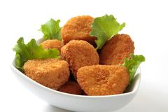 Chicken nuggets dinner Royalty Free Stock Images