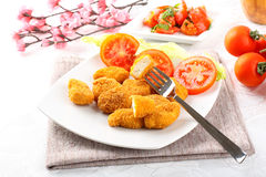 Chicken nuggets on dish Stock Image
