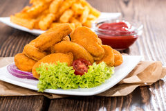 Chicken Nuggets with French Fries Royalty Free Stock Photos