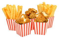 Chicken Nuggets And Fries Stock Images