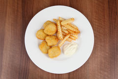 Chicken nuggets frites Royalty Free Stock Image