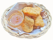 Chicken nuggets with honey sauce Royalty Free Stock Photography
