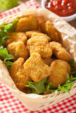 Chicken nuggets with ketchup Stock Image