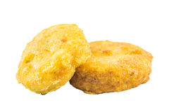Chicken nuggets. A lot of crispy chicken nuggets Royalty Free Stock Photo