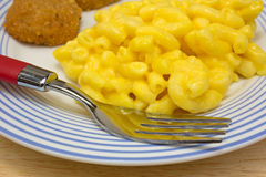 Chicken nuggets with macaroni Stock Photography