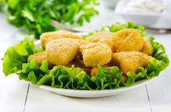Chicken nuggets Stock Photo