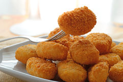 Chicken nuggets served in a white bowl Stock Photography