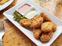 Chicken nuggets Royalty Free Stock Image