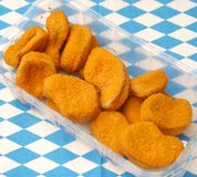 Chicken nuggets Stock Images