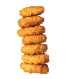 Chicken Nuggets Tower isolated Royalty Free Stock Photo