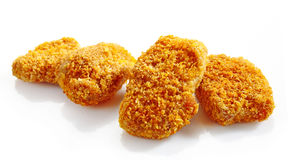 Chicken nuggets. On a white background royalty free stock photography