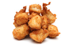 Chicken Nuggets. On a white background royalty free stock image