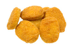 Chicken nuggets on white background Royalty Free Stock Photos
