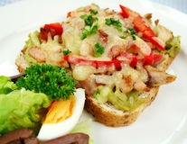 Chicken Open Grill Sandwich Stock Image