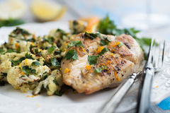 Chicken with Orange Chimichurri Stock Photography