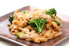 Chicken pad see ew. Decadent thai chicken stir fry pad see ew style Royalty Free Stock Photography