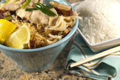 Chicken Pad Thai Stock Photography