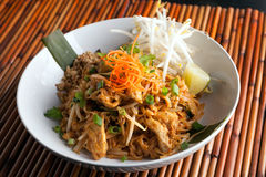 Chicken Pad Thai Royalty Free Stock Photos