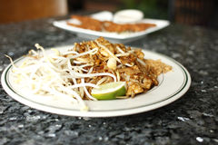 Chicken Pad Thai noodles Stock Photography
