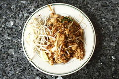 Chicken Pad Thai noodles Royalty Free Stock Photography