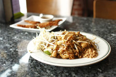 Chicken Pad Thai noodles Royalty Free Stock Photos