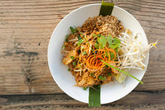Chicken Pad Thai Top Down Royalty Free Stock Photography