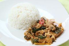 Chicken panang curry with ric Stock Photos