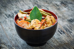 Chicken Panang curry Royalty Free Stock Images