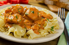 Chicken Paprikash Stock Photo