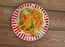 Chicken paprikash Royalty Free Stock Photography