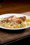 Chicken parmesan and noodles Royalty Free Stock Photos