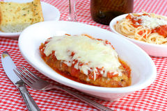 Chicken Parmigiana Dinner Royalty Free Stock Photos