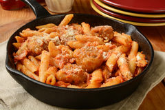 Chicken Parmigiana and Penne Royalty Free Stock Image