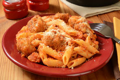 Chicken parmigiana penne Stock Image