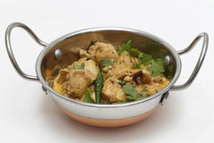 Chicken pasanda curry serving bowl Royalty Free Stock Image
