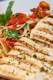 Chicken with pasta Royalty Free Stock Photography