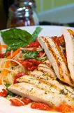 Chicken with pasta Royalty Free Stock Image