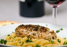 Chicken and pasta dinner Stock Photos