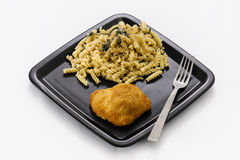 Chicken and Pasta royalty free stock photos