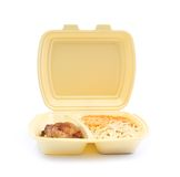 Chicken with pasta in food container Royalty Free Stock Images