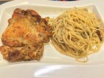 Chicken pasta Royalty Free Stock Image