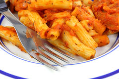 Chicken Pasta Marinara Close Royalty Free Stock Photo