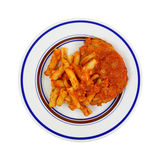 Chicken Pasta Marinara Cooked Royalty Free Stock Photography