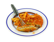Chicken Pasta Marinara With Fork Stock Photos