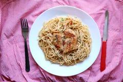 Chicken and Pasta Stock Photos