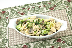 Chicken Pasta Primavera Royalty Free Stock Images