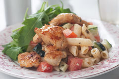 Chicken and pasta salad Royalty Free Stock Image