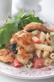 Chicken and pasta salad Royalty Free Stock Images