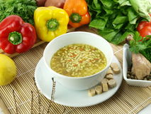 Chicken and pasta soup Royalty Free Stock Photography